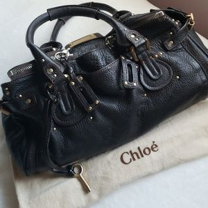 SALE !!Chloe Paddington Leather Brown Gold